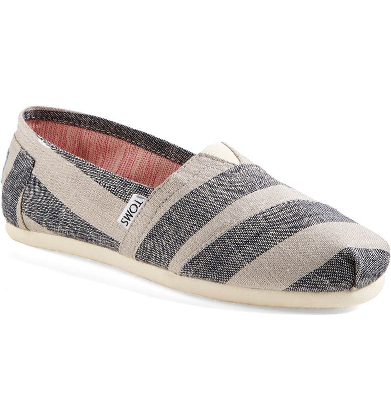 TOMS 'Classic - Stripes' Slip-On, Main, color, 400