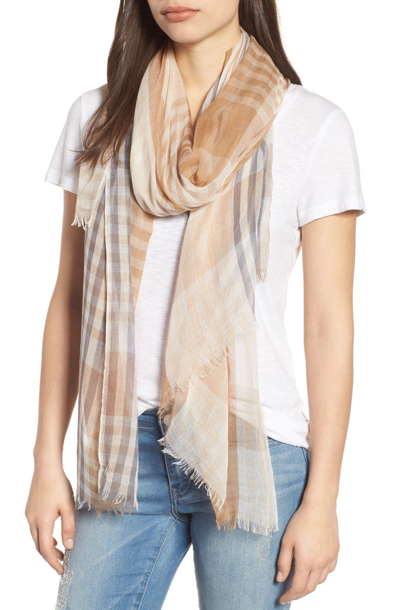 NORDSTROM Yarn Dyed Stripe Wrap, Main, color, 235