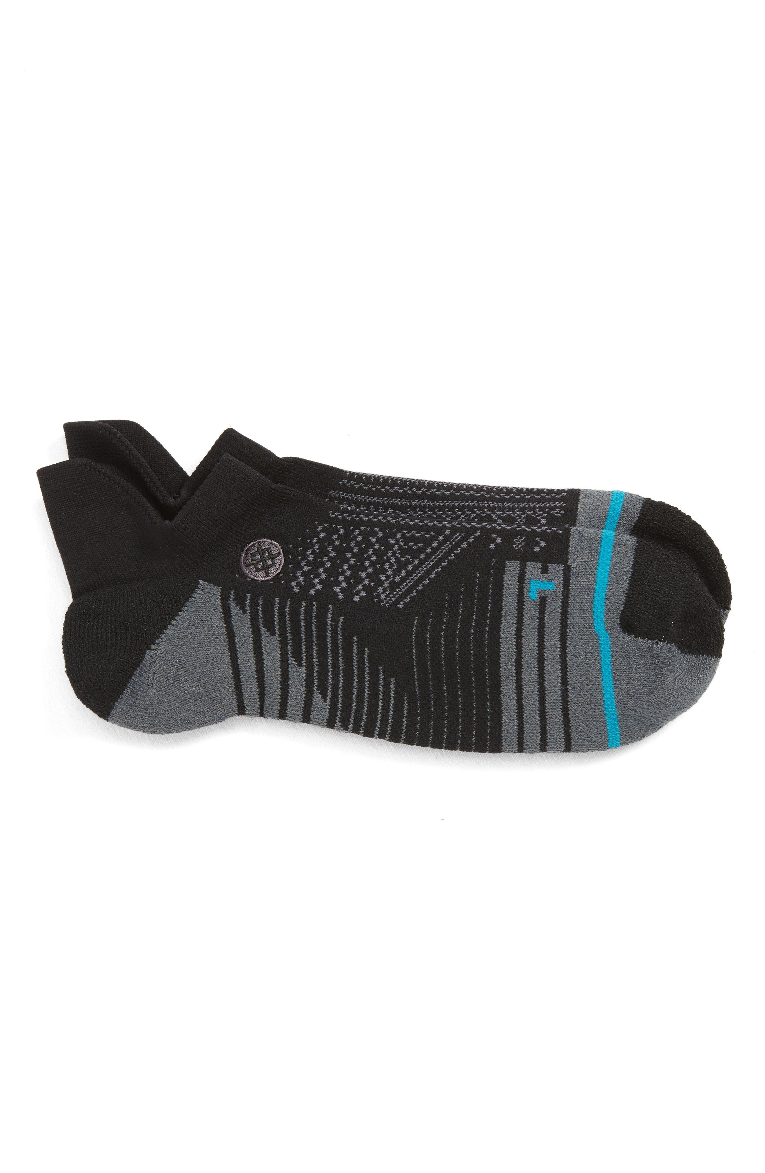 Uncommon Train Tab Socks, Main, color, BLACK