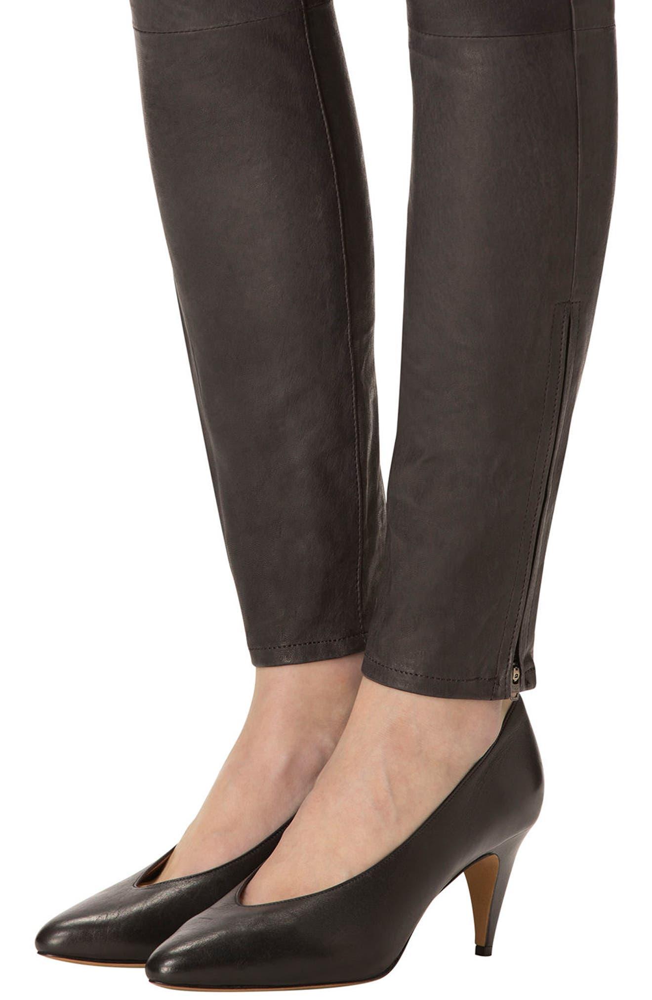 ,                             '8001' Lambskin Leather Pants,                             Alternate thumbnail 25, color,                             039