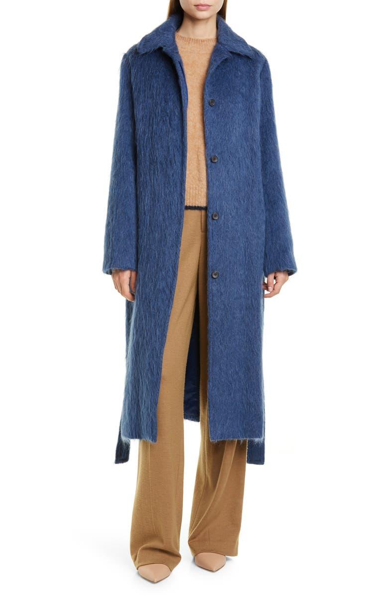 Tie Waist Wool Blend Coat by Vince