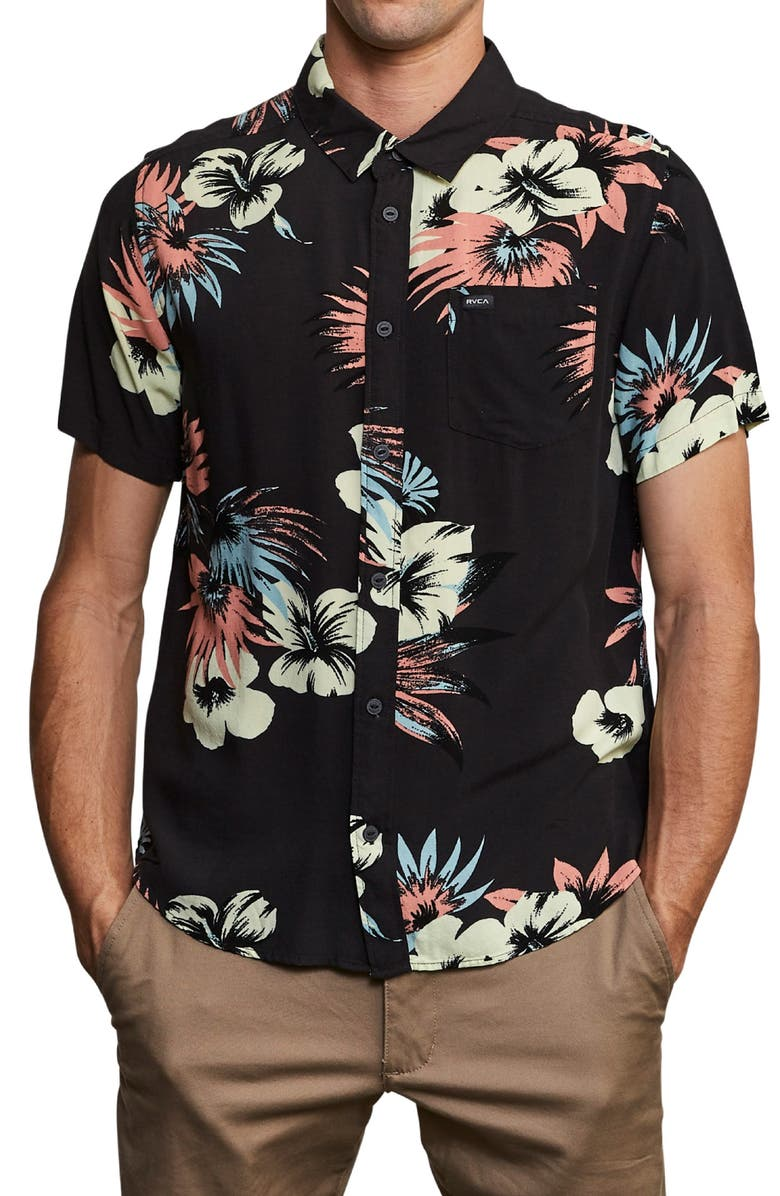 Romeo Slim Fit Floral Print Shirt by Rvca
