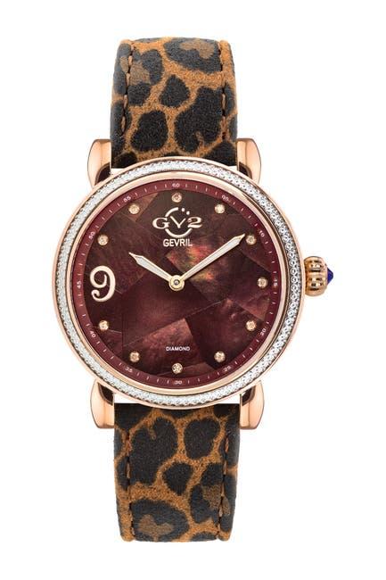 Image of Gevril Women's GV2 Ravenna Diamond Swiss Watch, 37mm - 0.053 ctw