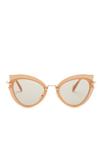 Image of MIU MIU 52mm Butterfly Sunglasses