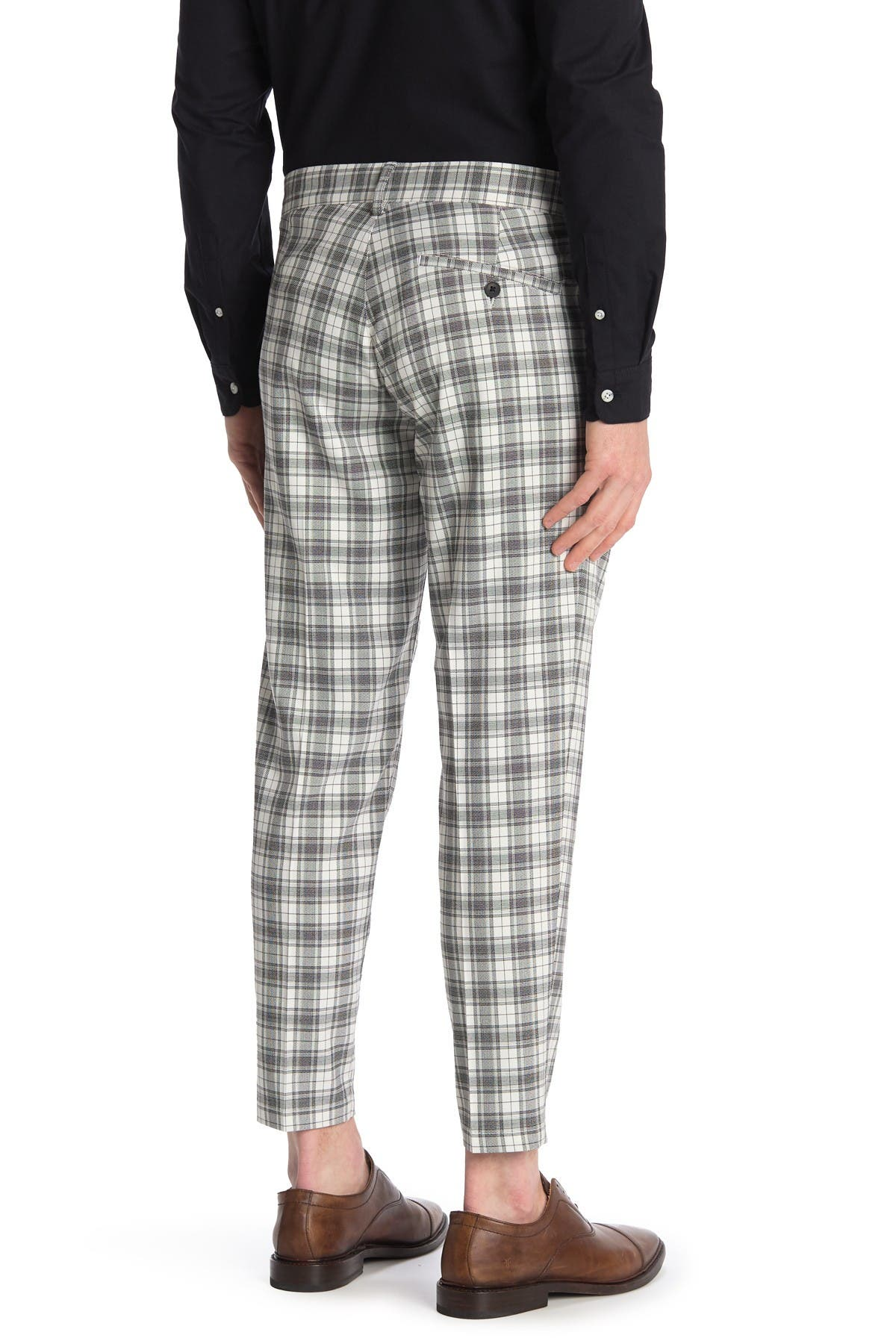 Image of TOPMAN Plaid Tapered Pants