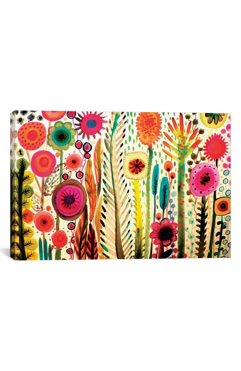 ICANVAS Printemps by Sylvie Demers Giclée Print Canvas Art, Main, color, WHITE/ PINK/ BROWN/ YELLOW