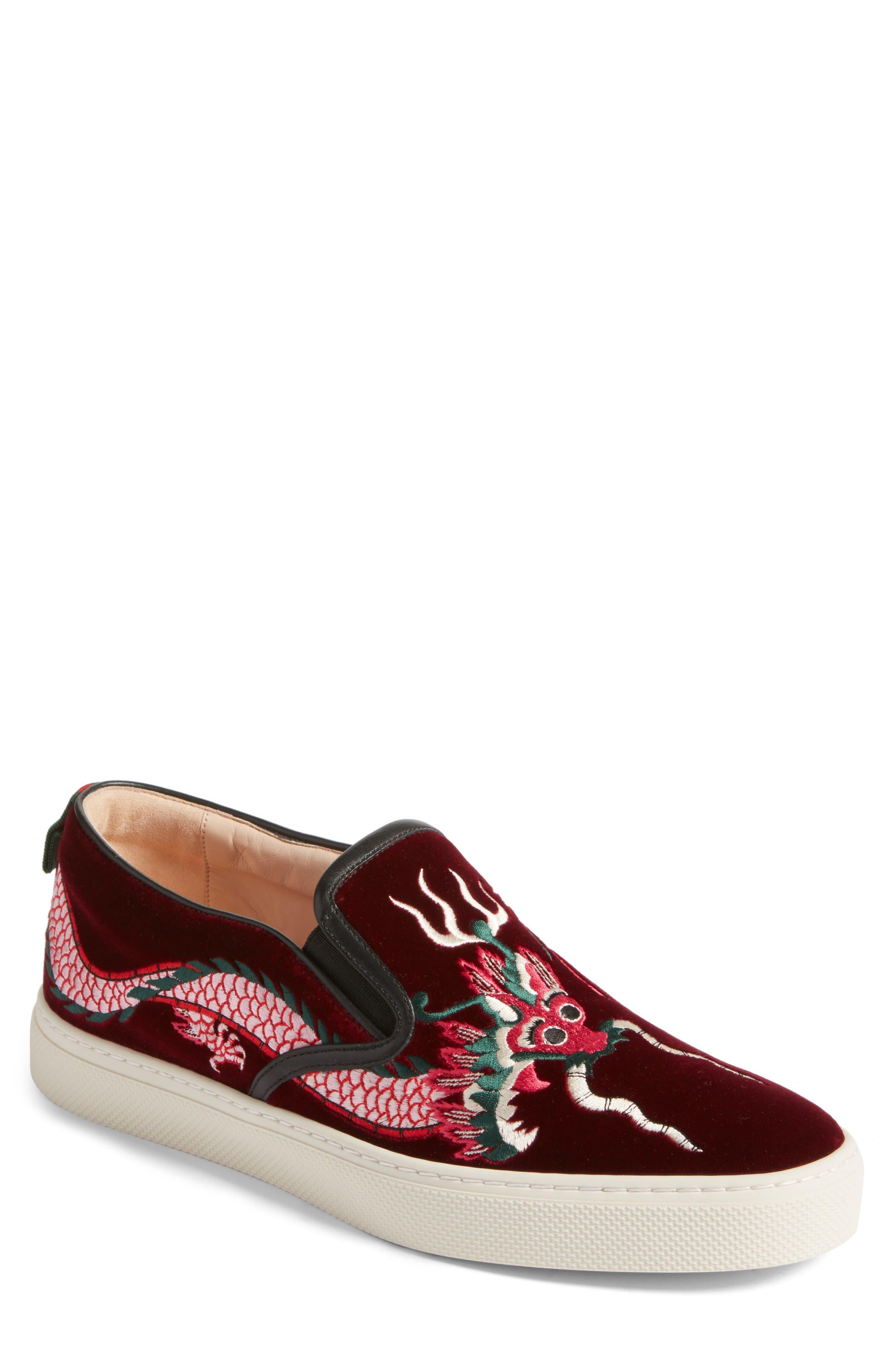 ,                             Dublin Embroidered Dragon Skate Sneaker,                             Main thumbnail 1, color,                             640