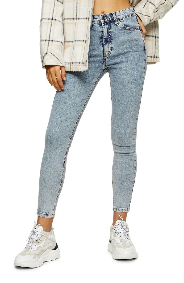 TOPSHOP Bleach Acid Jamie Jeans, Main, color, 400
