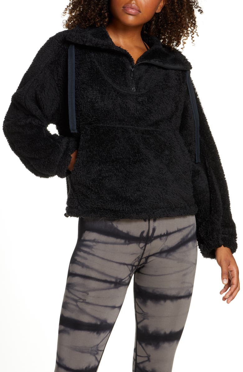 FREE PEOPLE FP MOVEMENT Big Sky Pullover, Main, color, BLACK