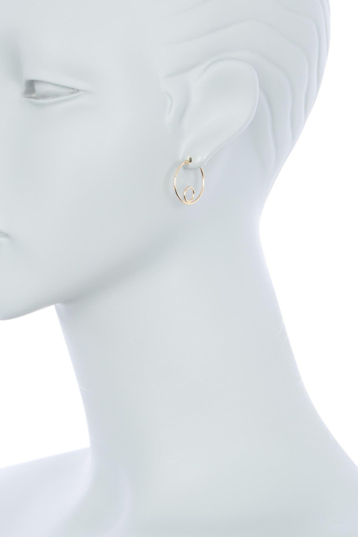 Candela 14K Yellow Gold Inner Circle Hoop Earrings