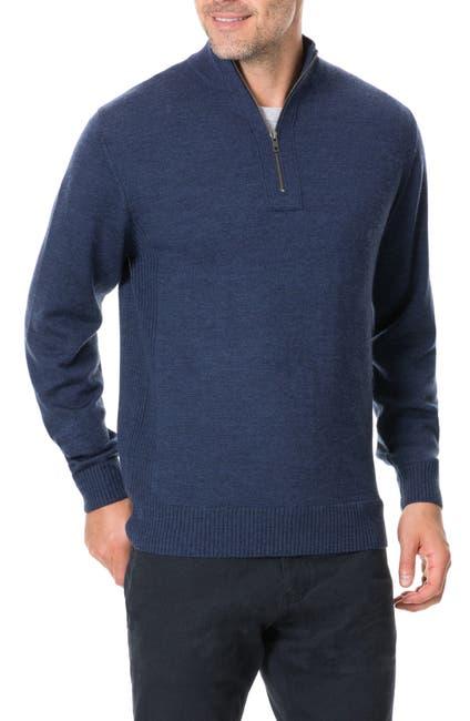Image of RODD AND GUNN Junction Quarter Zip Wool Sweater