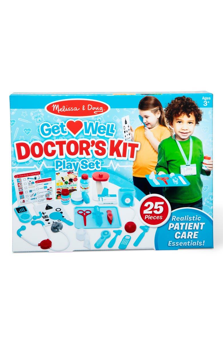 MELISSA & DOUG Get Well Doctor's Kit Play Set, Main, color, MULTI