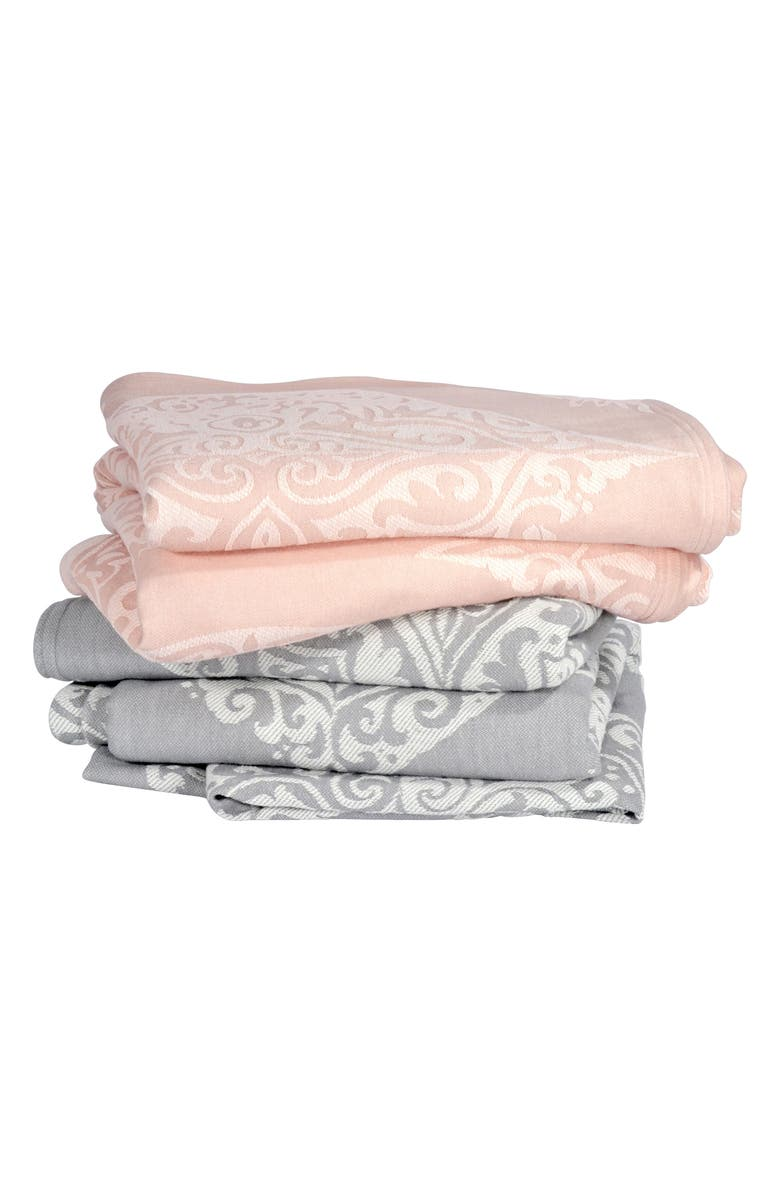 PERI HOME Damask Blanket, Main, color, GREY