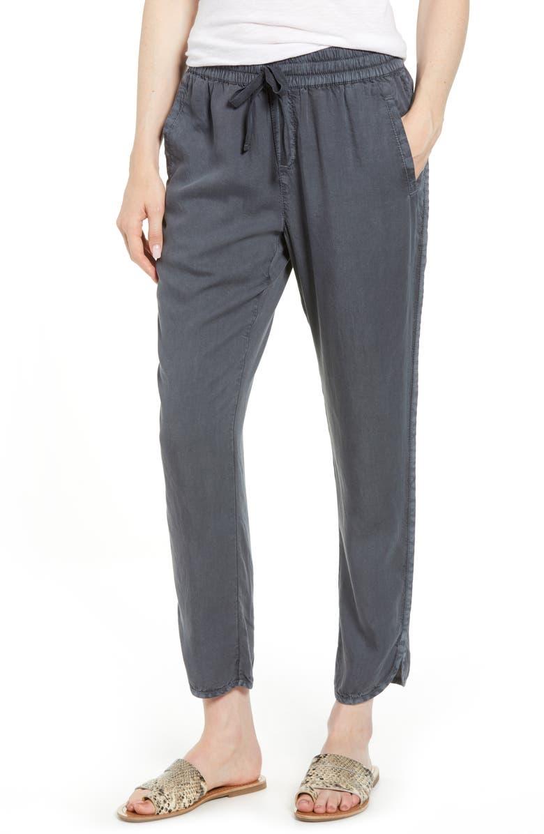 CASLON<SUP>®</SUP> Tulip Hem Pants, Main, color, GREY EBONY
