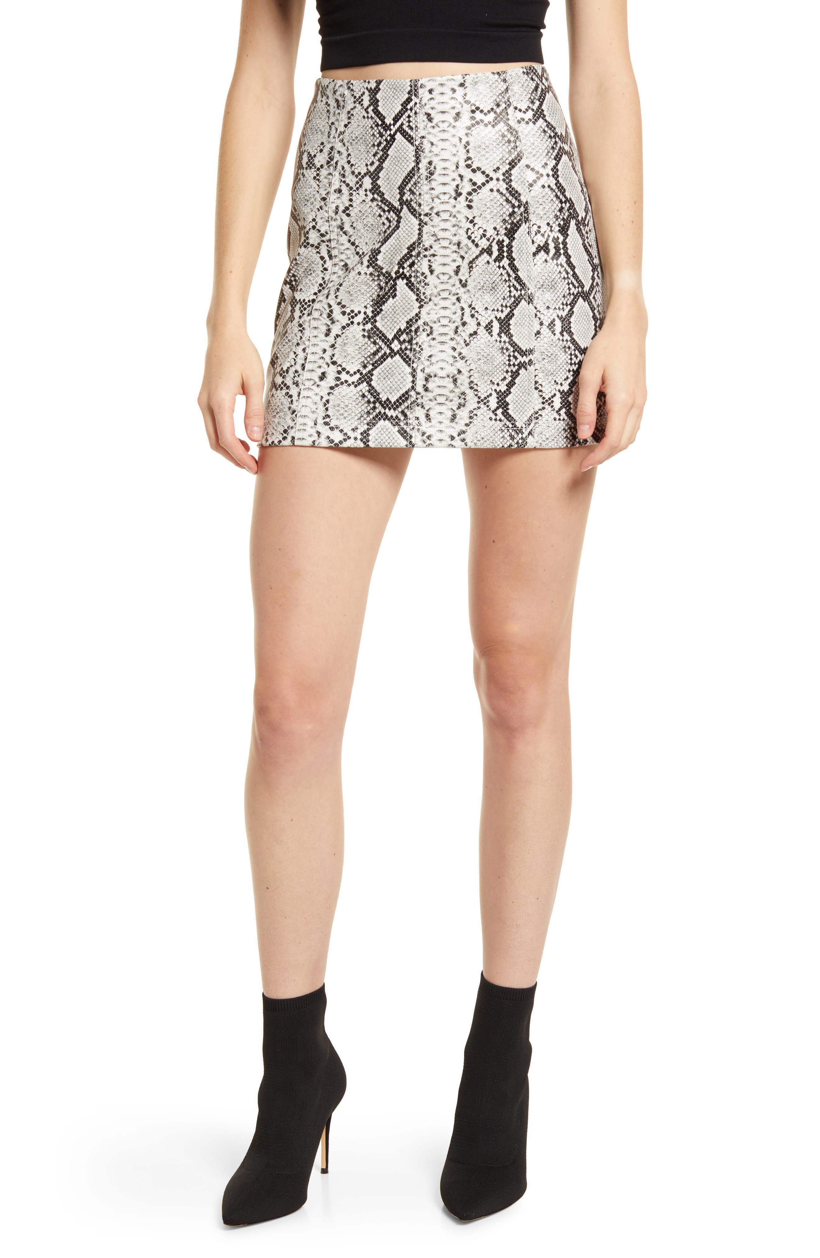 Venture Out Snakeskin Print Miniskirt
