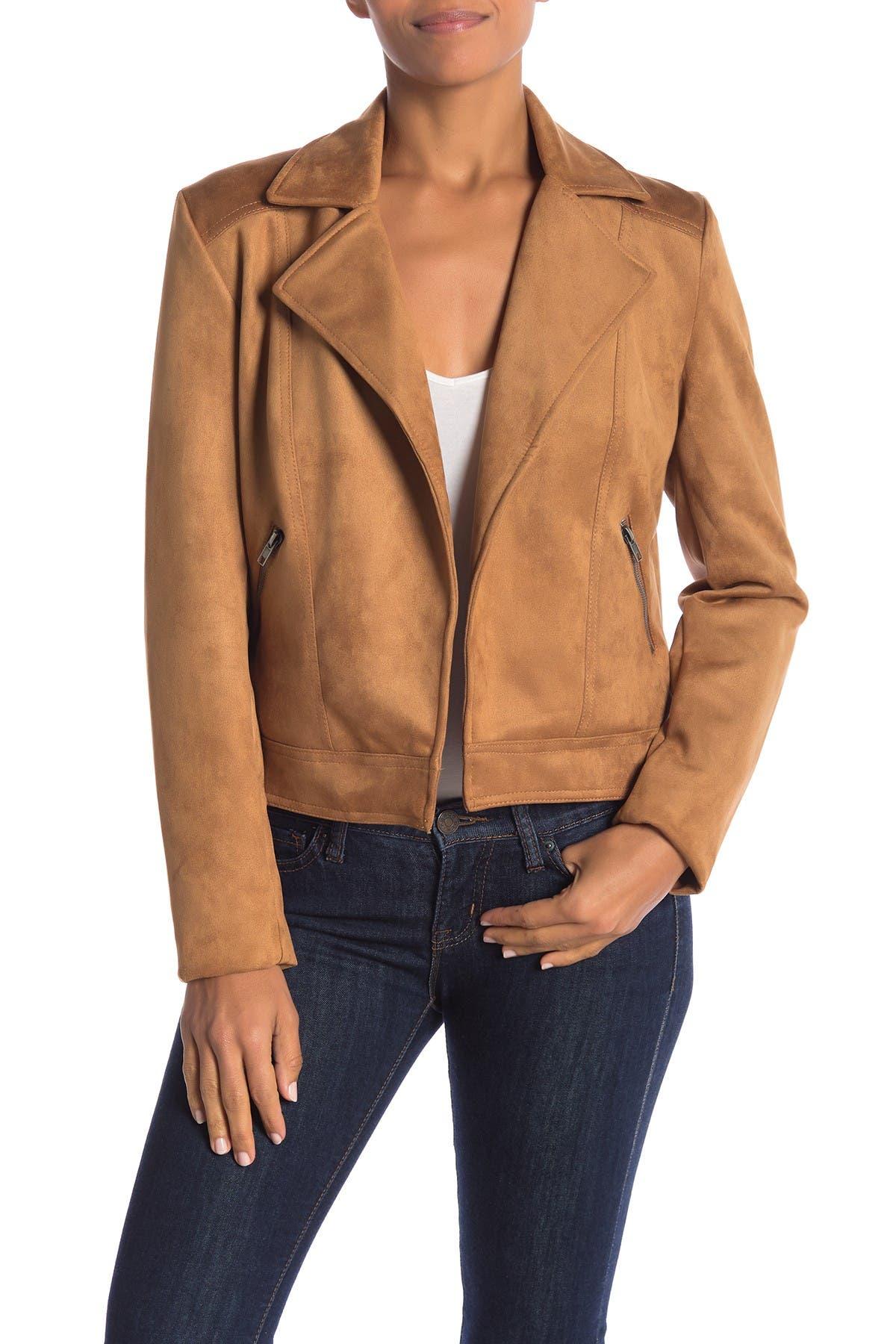 Image of Philosophy Apparel Faux Suede Moto Jacket