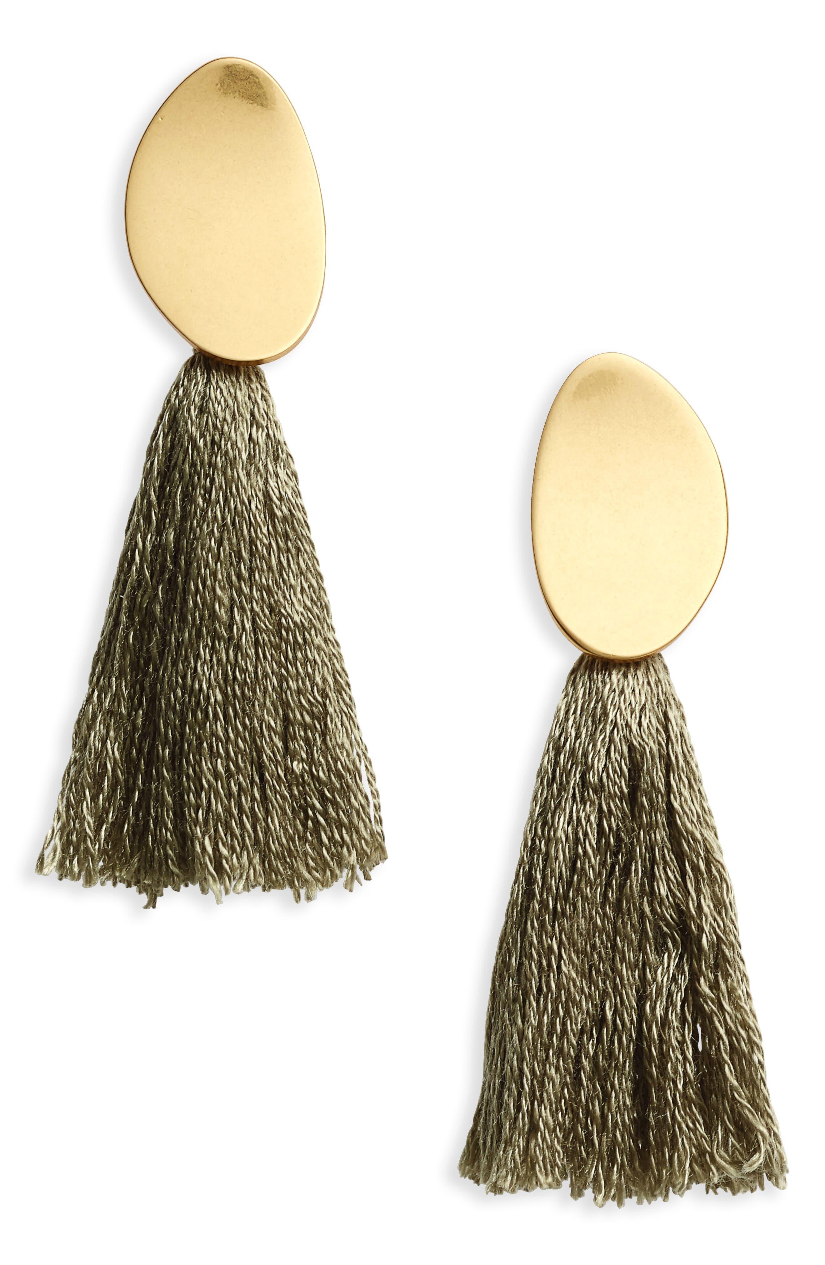 ,                             Curved Tassel Earrings,                             Main thumbnail 7, color,                             300