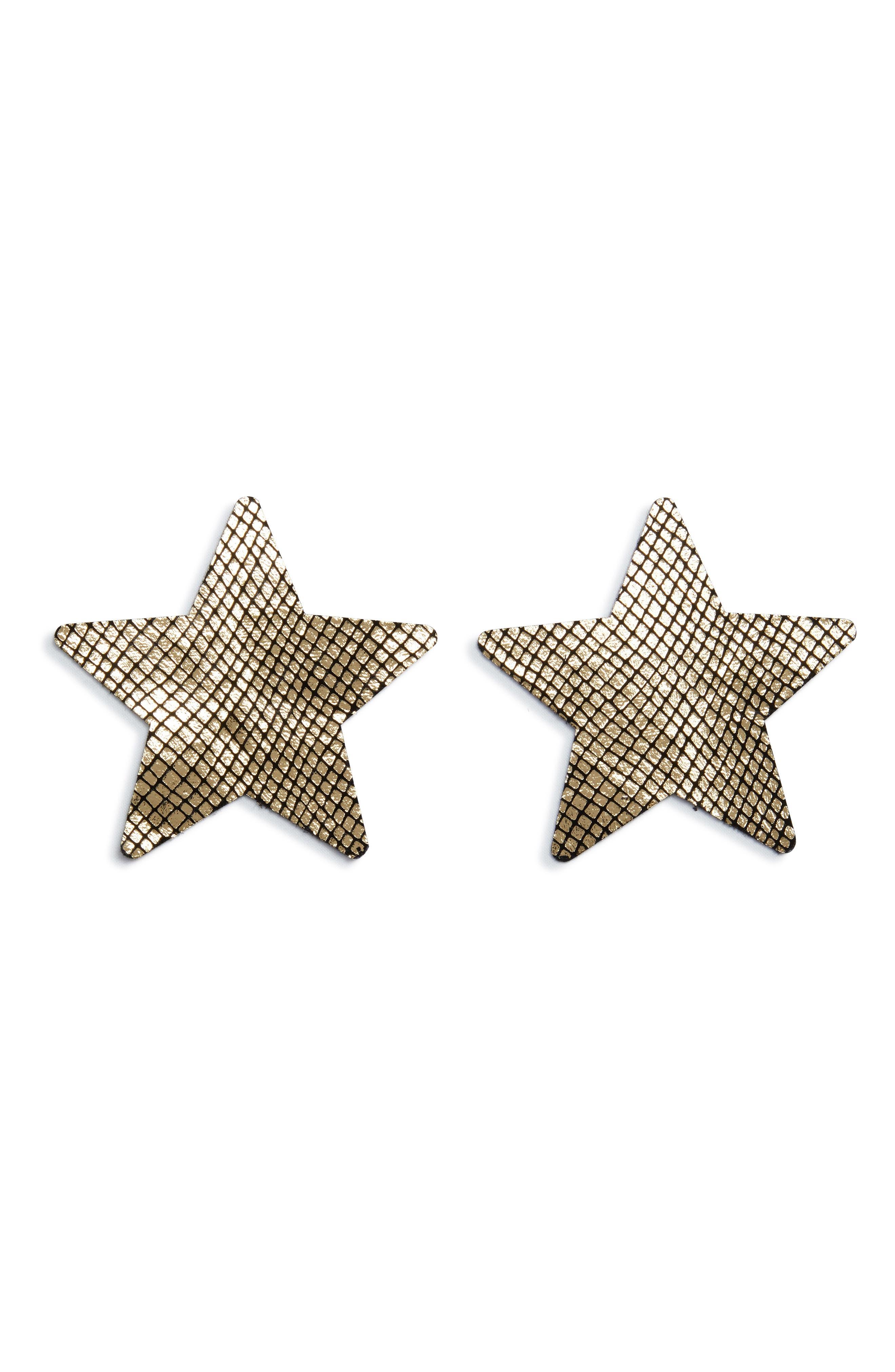 Nippies by Bristols Fishnet Star Nipple Covers