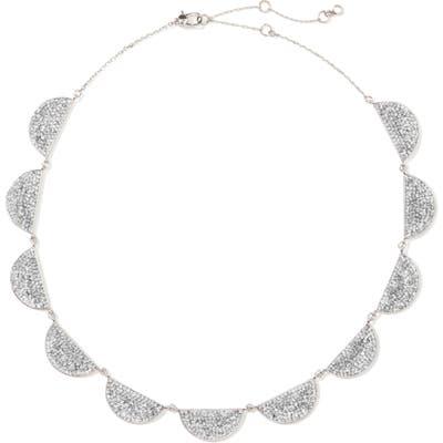 Kate Spade New York Mod Scallop Pave Necklace