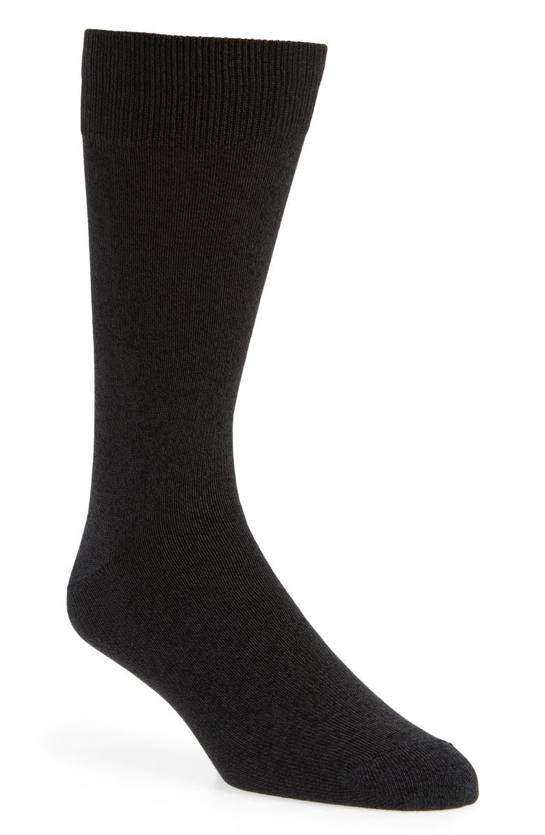 NORDSTROM MEN'S SHOP Ultrasoft Solid Socks, Main, color, 001