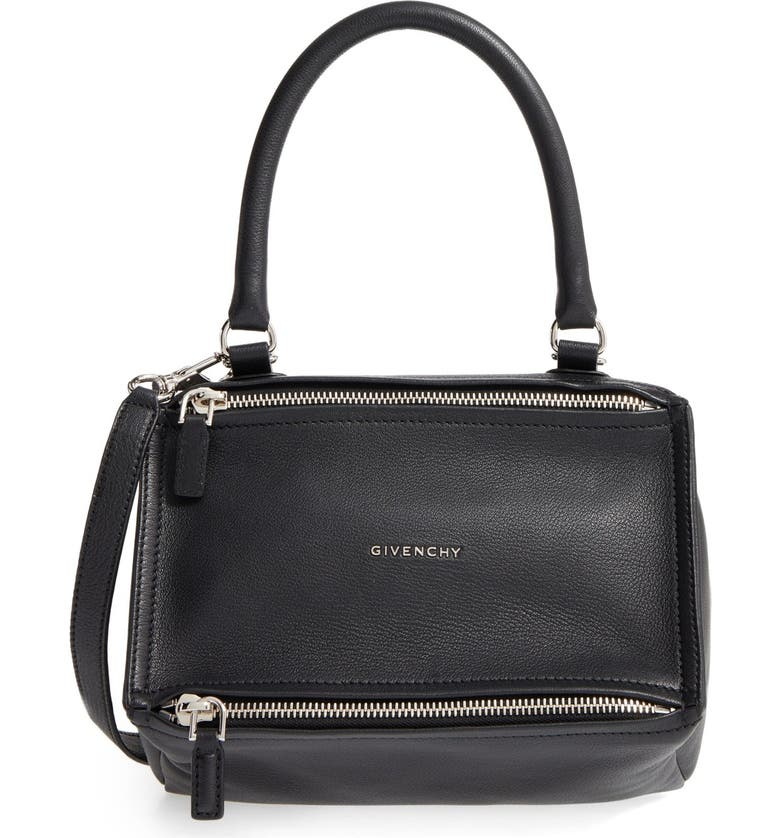 GIVENCHY 'Small Pandora' Leather Satchel, Main, color, BLACK