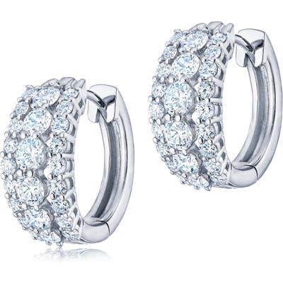Kwiat Eclipse Triple Row Diamond Huggie Earrings