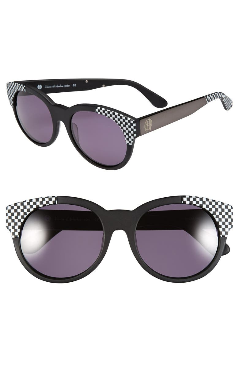 HOUSE OF HARLOW 1960 'Adalyn' 54mm Sunglasses, Main, color, 001