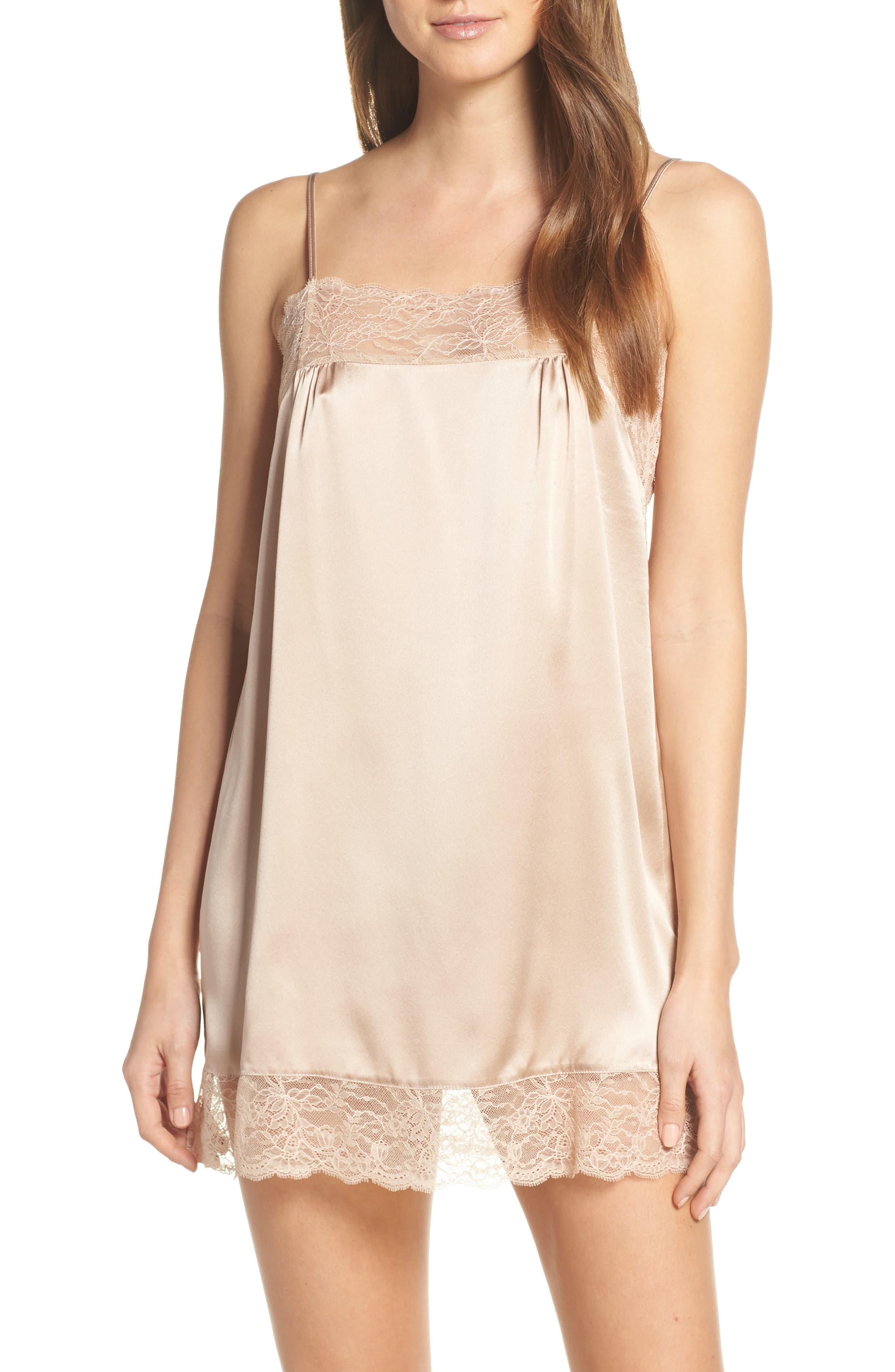1920s Style Underwear, Lingerie, Nightgowns, Pajamas Womens Samantha Chang Jasmine Silk Chemise $300.00 AT vintagedancer.com
