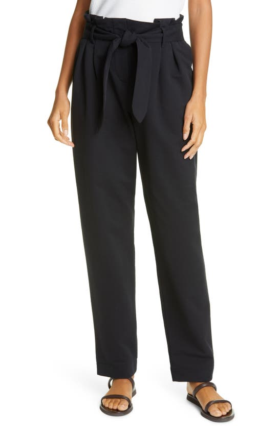 Emporio Armani BELTED PAPERBAG WAIST PANTS