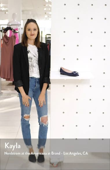 Gommettine Buckle Pointy Toe Flat, sales video thumbnail