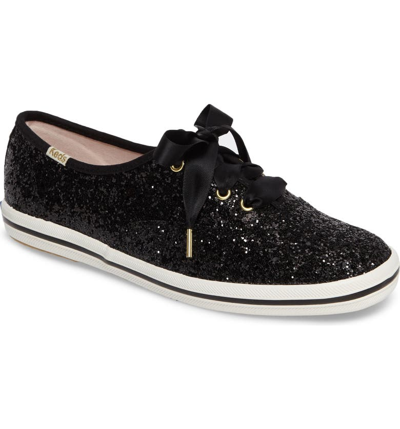 KEDS<SUP>®</SUP> FOR KATE SPADE NEW YORK Keds<sup>®</sup> x kate spade new york glitter sneaker, Main, color, BLACK