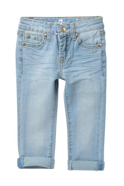 Image of 7 For All Mankind The Ankle Deep Cuff Skinny Jeans