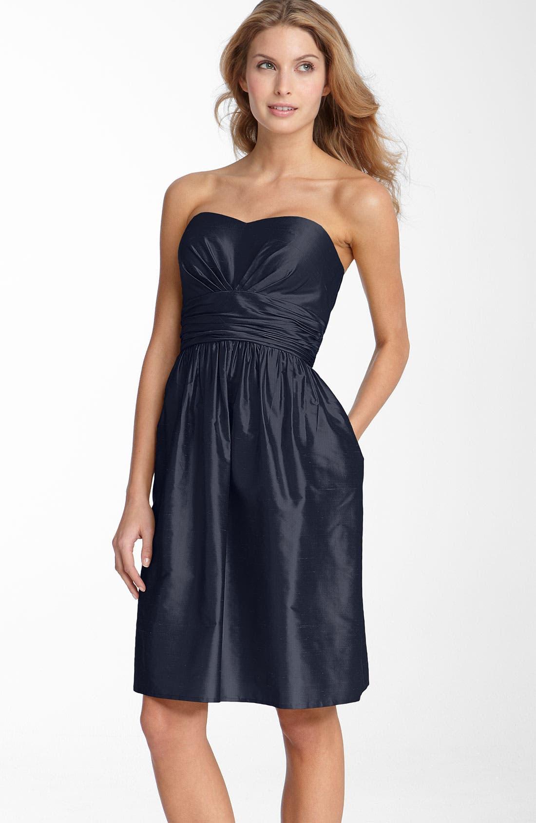 ,                             Silk Shantung Dress,                             Main thumbnail 7, color,                             410