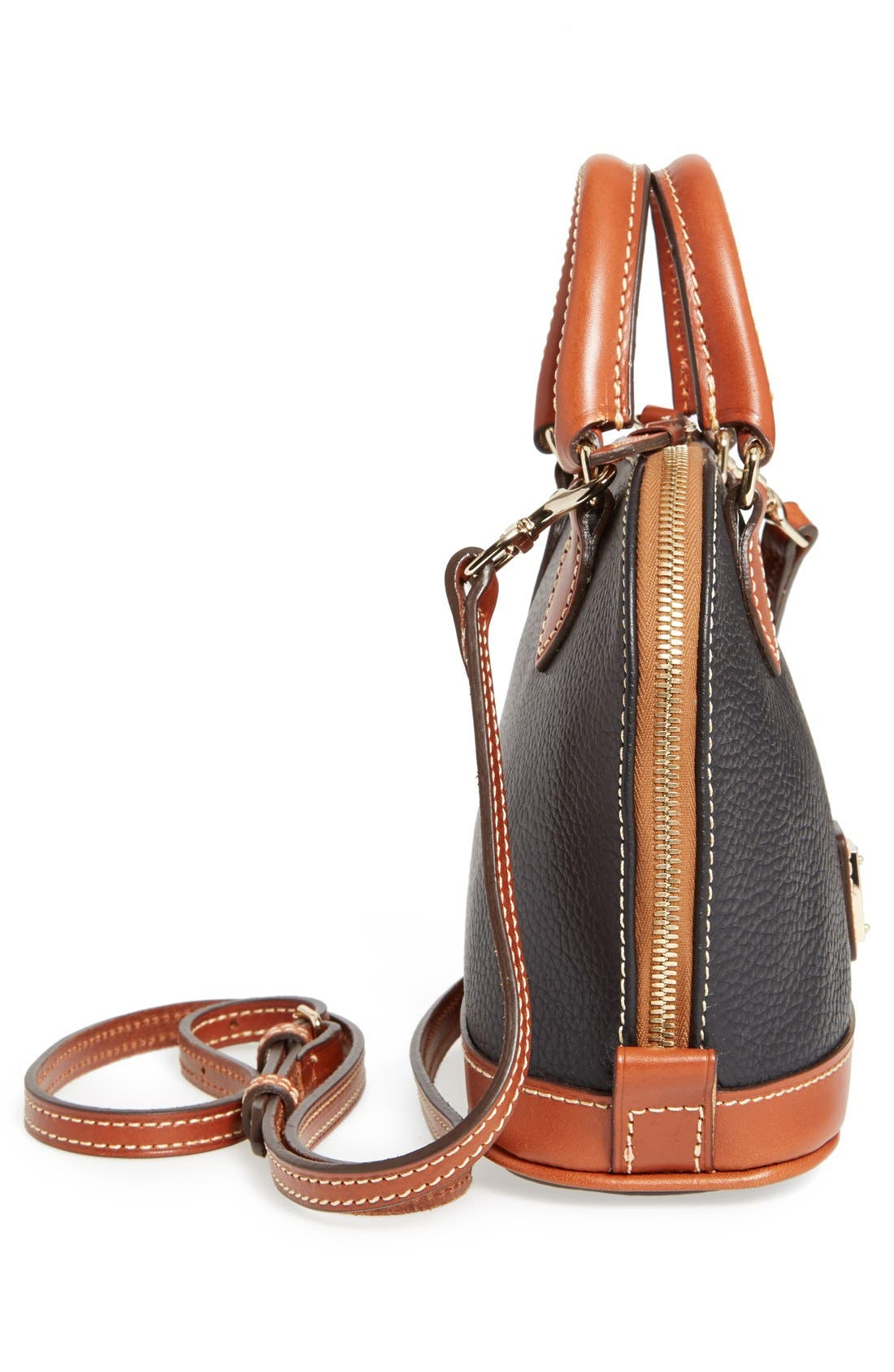 ,                             'Bitsy' Leather Crossbody Bag,                             Alternate thumbnail 3, color,                             001