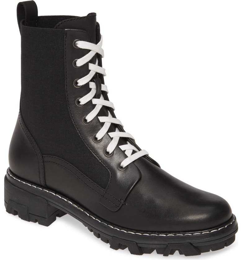 RAG & BONE Shiloh Combat Boot, Main, color, BLACK