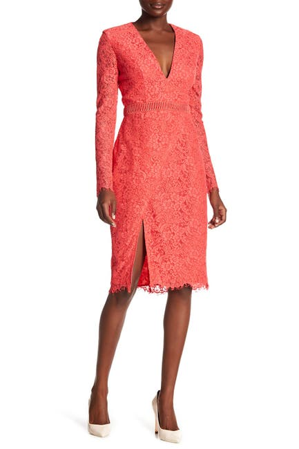 Image of STYLESTALKER Sabine Lace Long Sleeve Dress