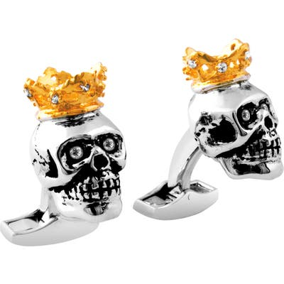 Tateossian King Skull Cuff Links