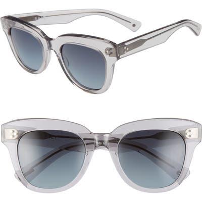 Salt. Sophia 52mm Polarized Square Sunglasses - Smoke Grey/ Denim