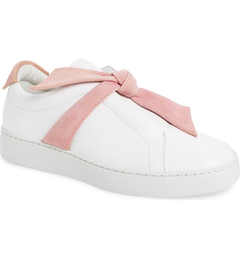 ALEXANDRE BIRMAN Clarita Bow Sneaker, Main, color, 102