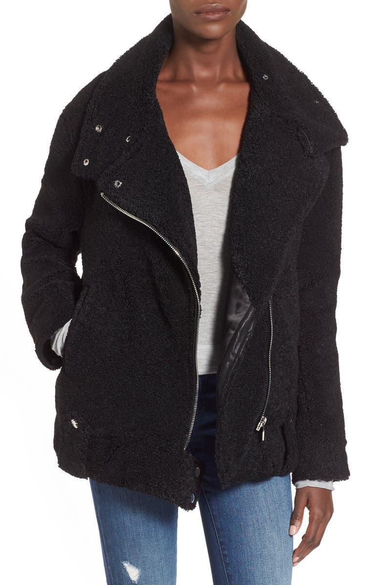 BLANKNYC 'Teddy' Moto Jacket, Main, color, 001