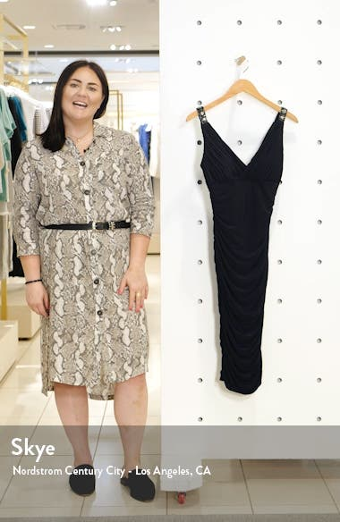 Sleeveless Ruched Body-Con Dress, sales video thumbnail