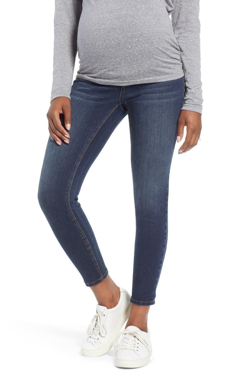 1822 DENIM Ankle Skinny Maternity Jeans, Main, color, GIOVANNA
