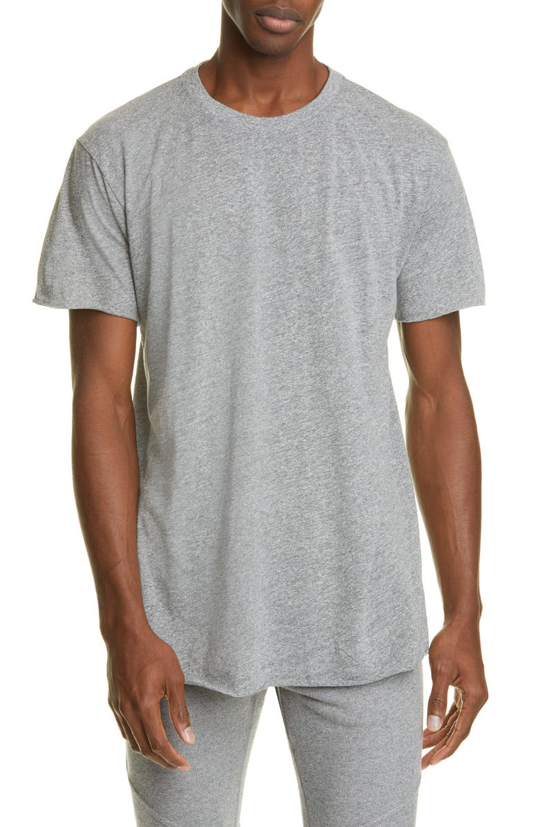 JOHN ELLIOTT Anti Expo Raw Edge T-Shirt, Main, color, GREY