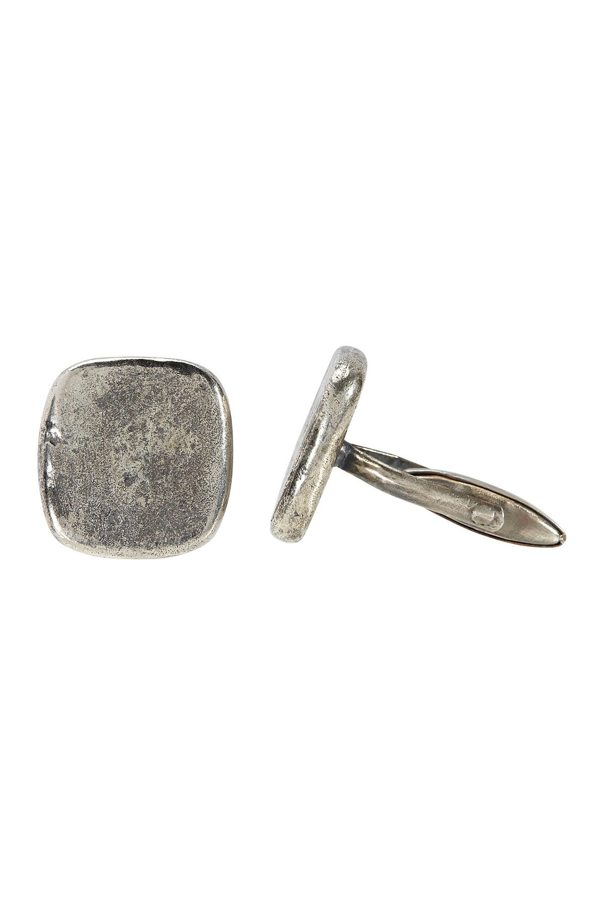 Image of John Varvatos Collection Distressed Silver Cufflinks