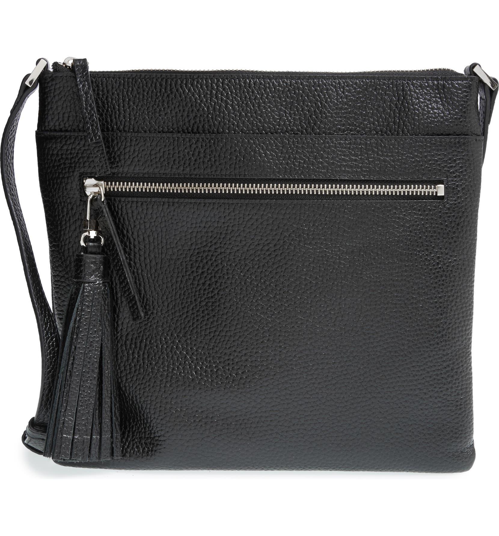 6246521e10eed6 Halogen® Tasseled Leather Crossbody Bag | Nordstrom