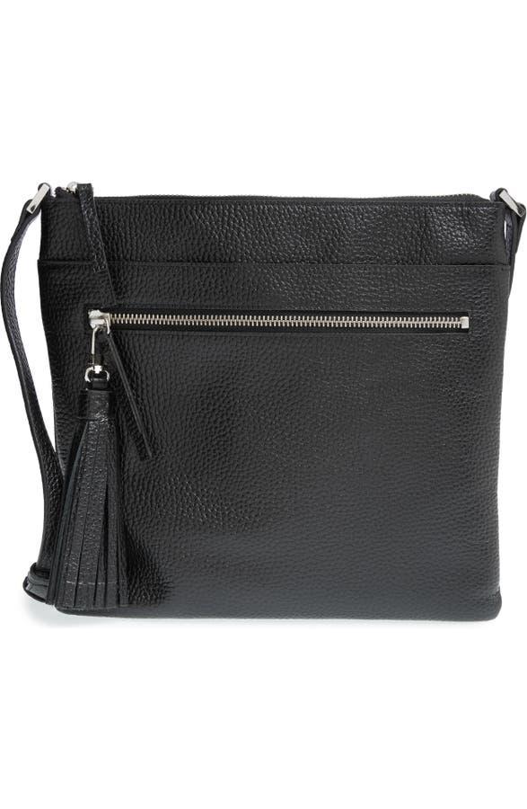 69cf1c46a3 Halogen® Tasseled Leather Crossbody Bag | Nordstrom
