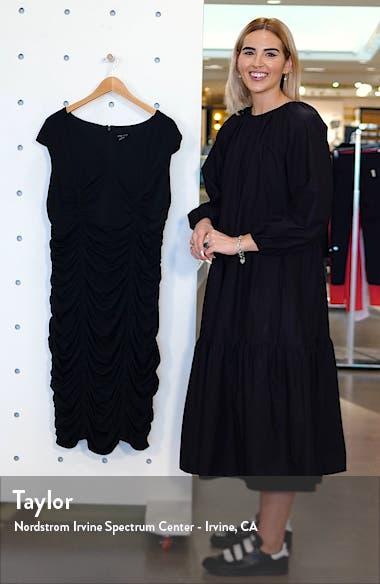 Ruched V-Neck Sheath Dress, sales video thumbnail