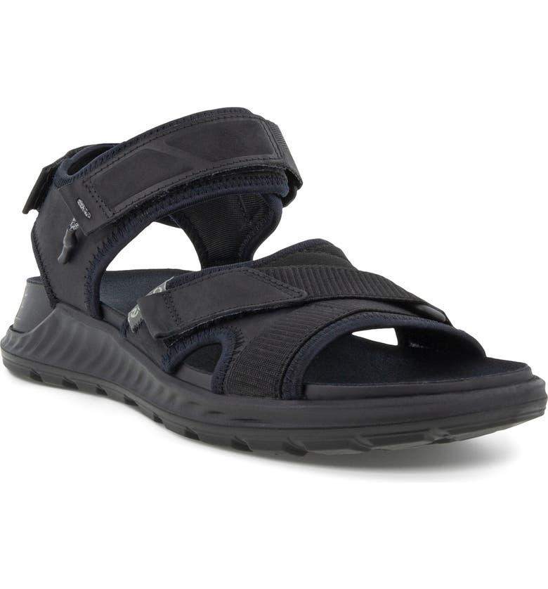 ECCO Exowrap Strap Sandal, Main, color, BLACK/ BLACK
