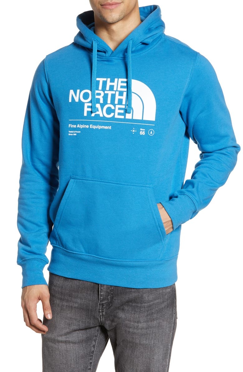 THE NORTH FACE Half Dome Hoodie, Main, color, HERON BLUE