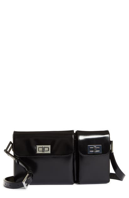 By Far BILLY LEATHER CONVERTIBLE CROSSBODY BAG